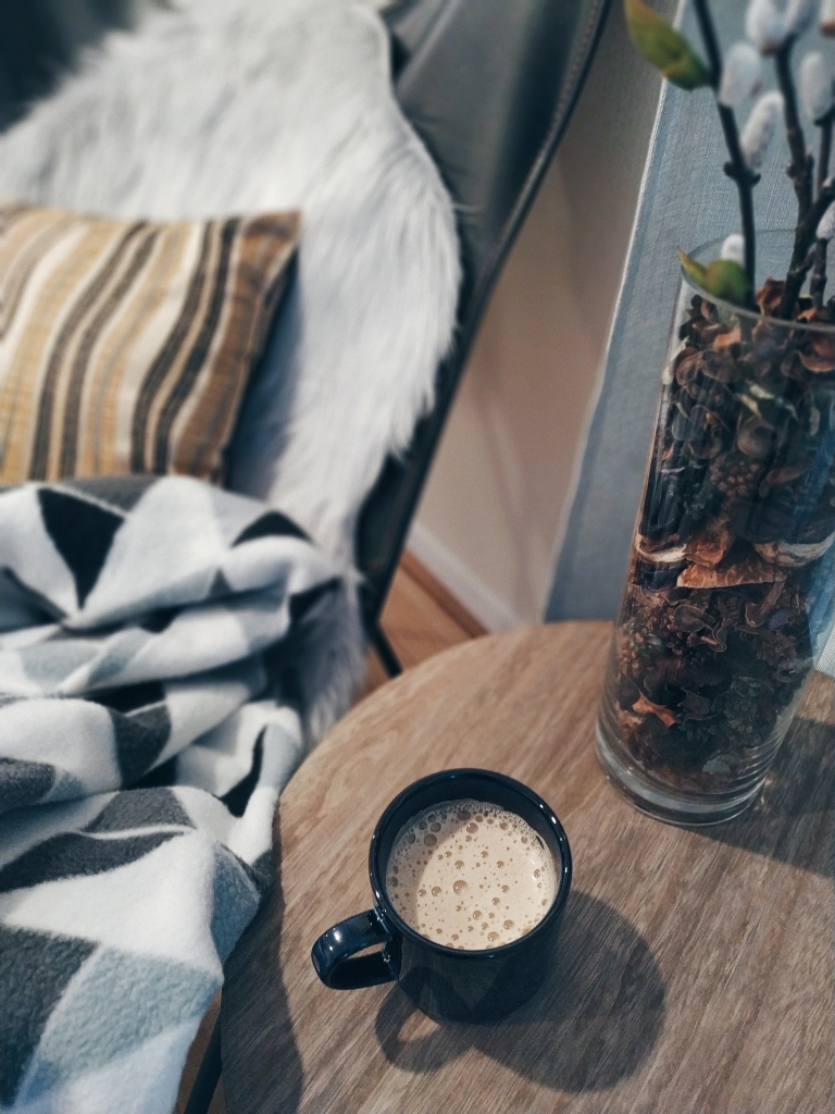 Hygge - hot beverage and blanket