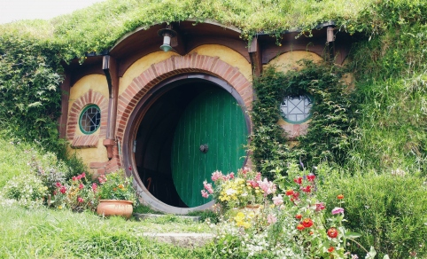One of the Hobbit houses in Hobbiton