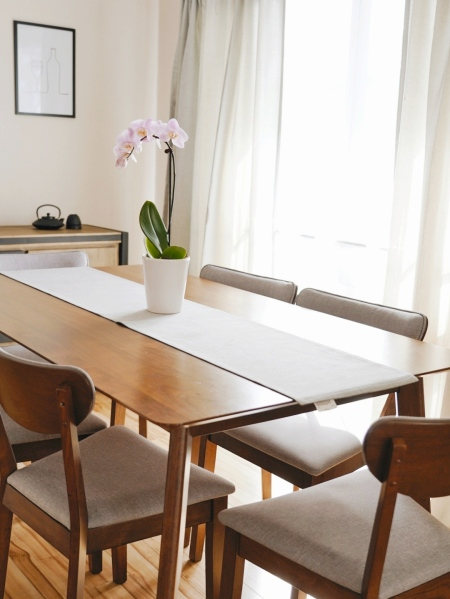 Dining table with lots of natural light