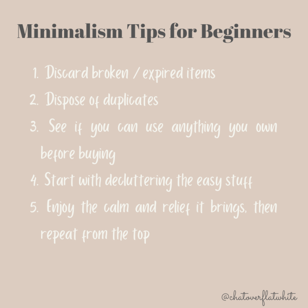 Minimalism tips for beginners