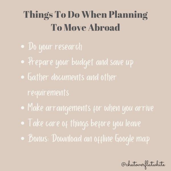 Things to do when planning to move abroad