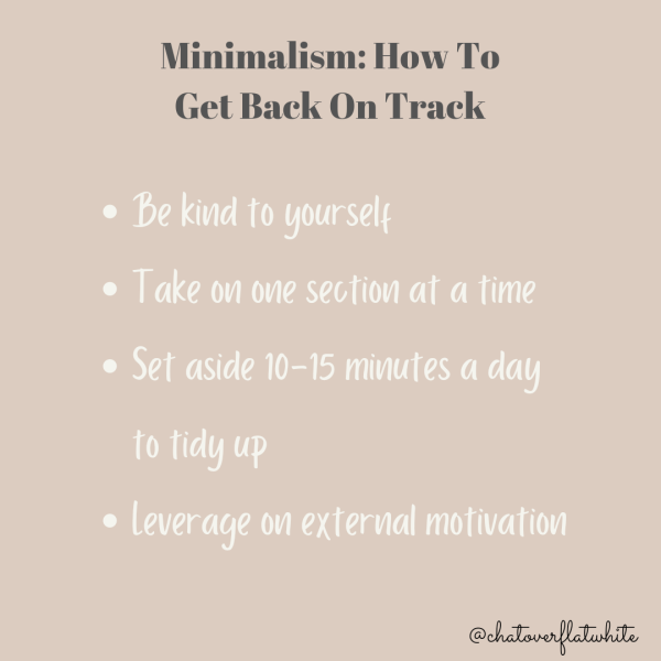 Minimalism: How to get back on track