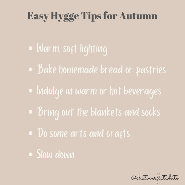 Easy hygge tips for autumn